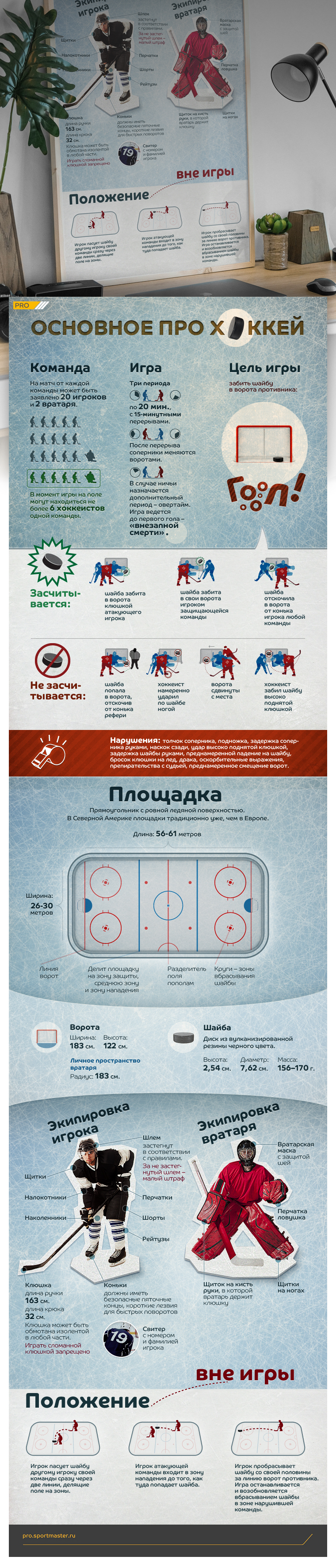 "Эскиз проекта Infographic poster ""Basic about hockey"""